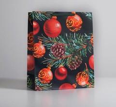 Пакет ламинированный вертикальный «Новогодняя ночь», XL 40 × 49 × 19 см, 1 шт.