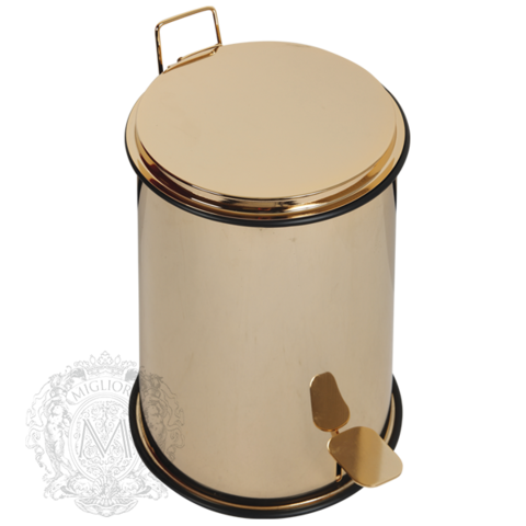 Ведро мусорное  с педалью  11л., 26xH40см Migliore Complimenti ML.COM-50.108 золото