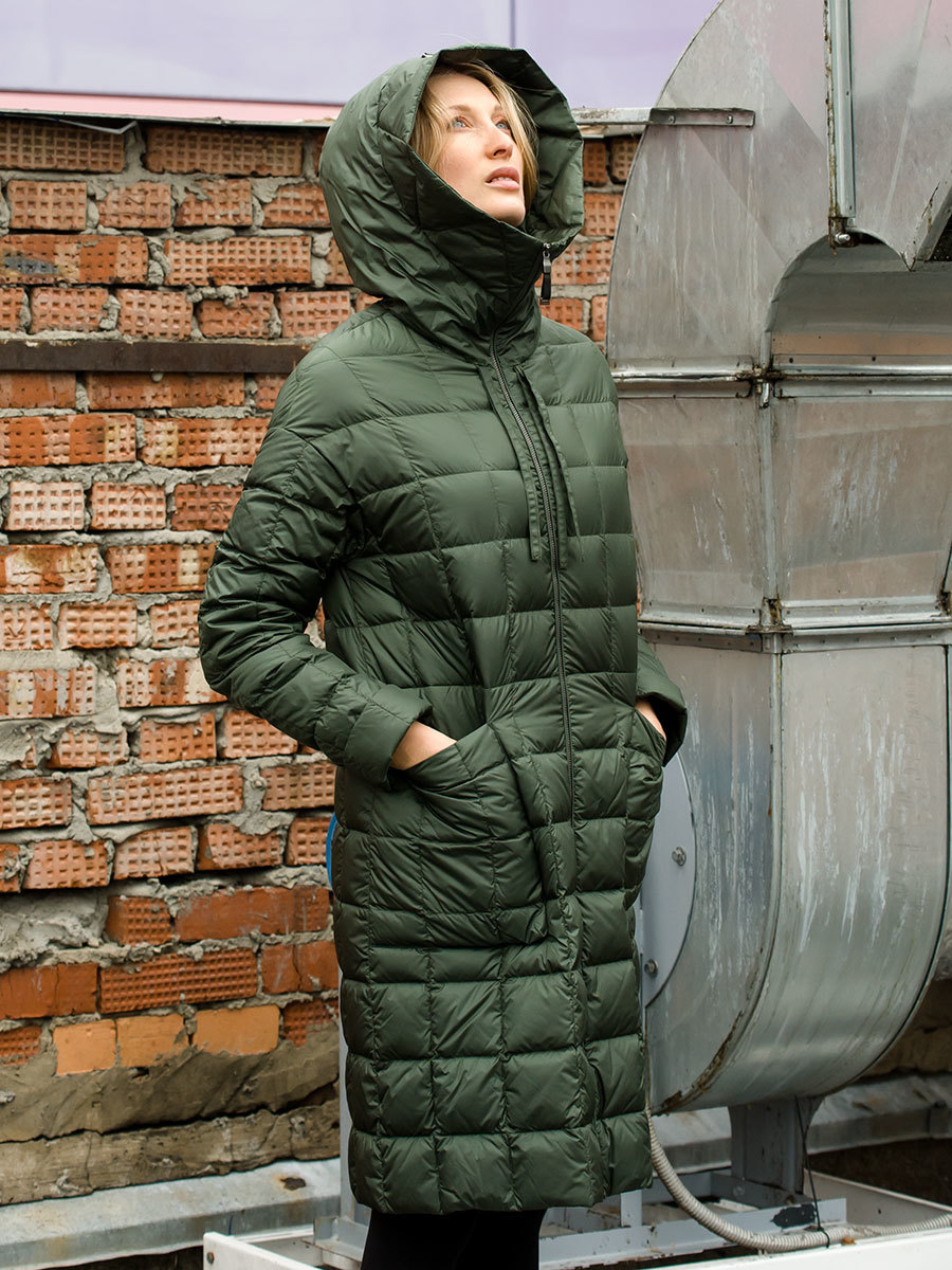 Joutsen пуховик Kanerva темно-зеленый - Фото 1