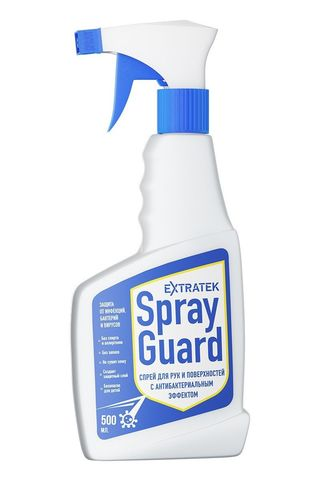 Спрей для рук и поверхностей с антибактериальным эффектом EXTRATEK Spray Guard - 500 мл.