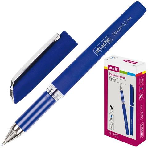 Ручка гелевая Attache Stream синяя (толщина линии 0.5 мм)