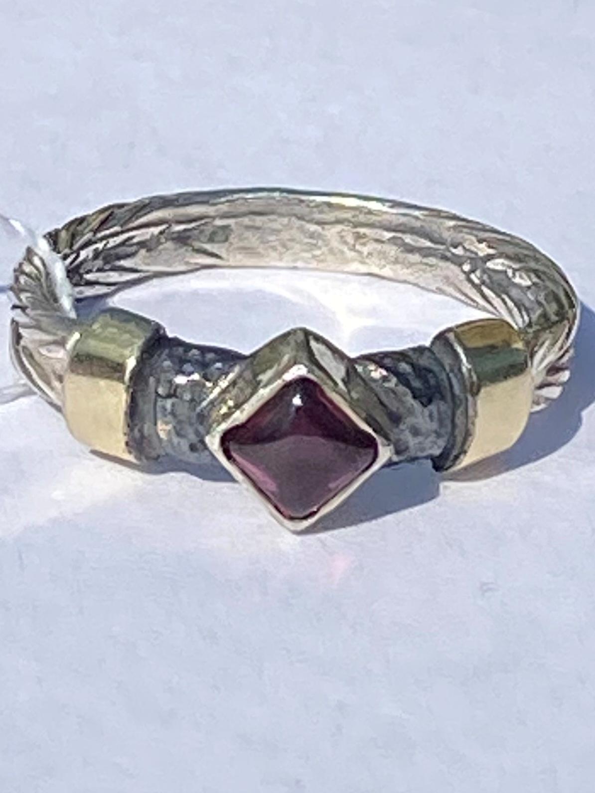 Гранат 282 (кольцо из серебра/золота)