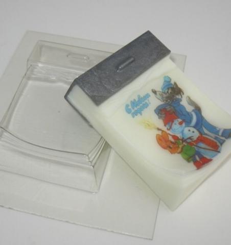 Пластиковая форма для шоколада дет. ОТРЫВНОЙ КАЛЕНДАРЬ 90х55мм.