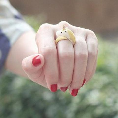 Кольцо Единорог (розовый)