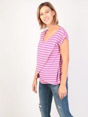 Евромама. Блуза для беременных и кормящих на запах вискоза, сиреневый вид 3