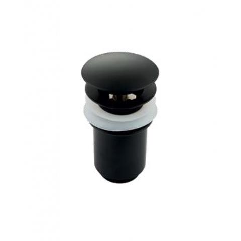 Донный клапан KАISER 8011 Black автомат, хром