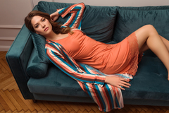 Женский халат E21B-12W101