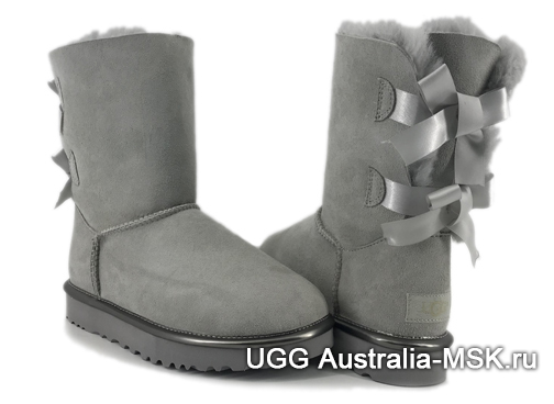 UGG Bailey Bow II Metallic Grey