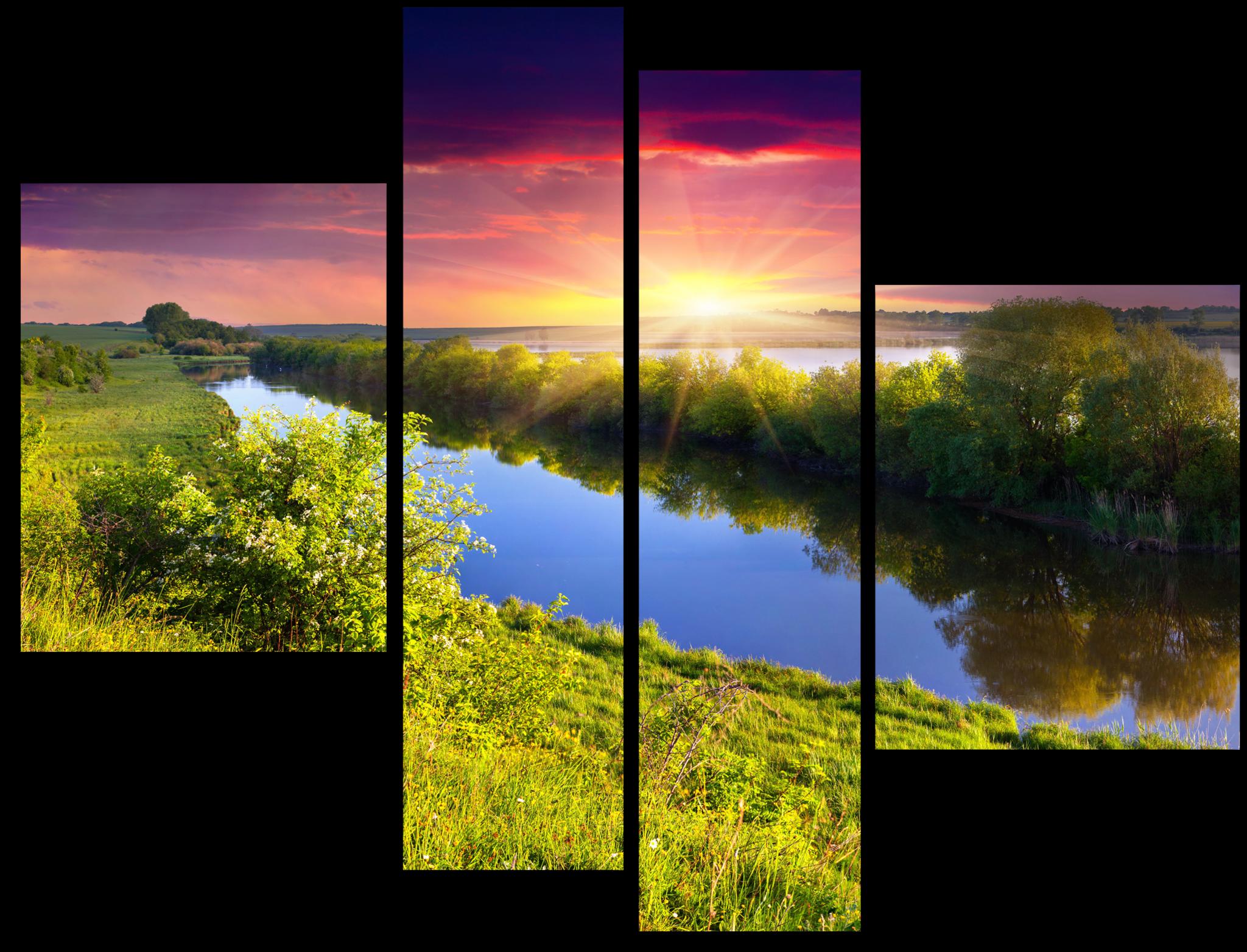 """Модульные картины Модульная картина """"Спокойный залив"""" М149.png"""