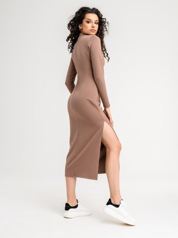 Платье какао