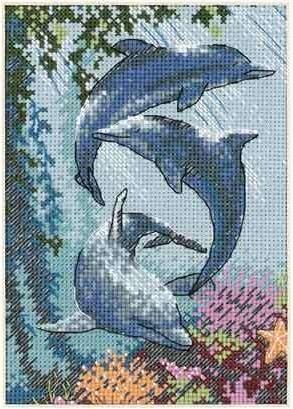 Набор для вышивания Трио дельфинов. Арт. 1009