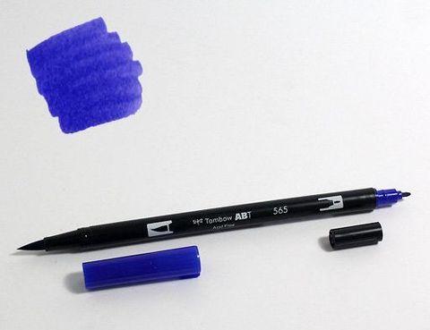 Маркер-кисть Tombow ABT Dual Brush Pen-565, темно-синий