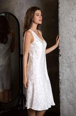 Платье белое шелковое домашнее 15156