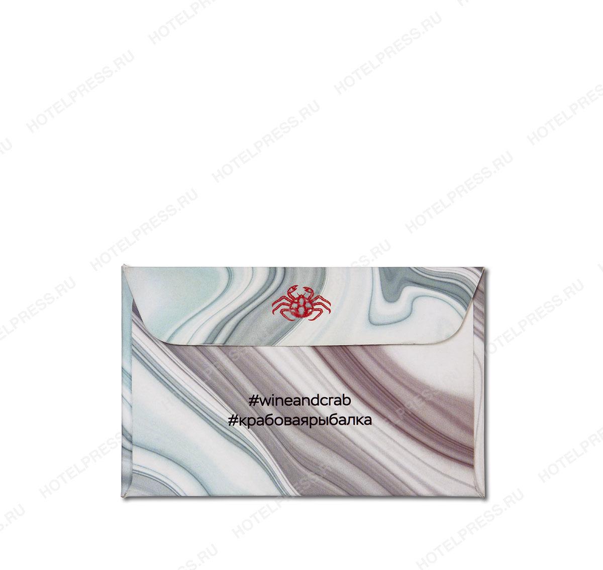 Конверт 95х65 мм для пластиковой карты или визитки