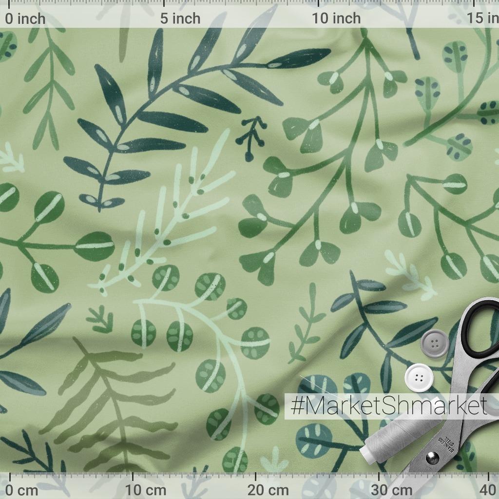 Зеленые листья и растения