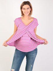 Евромама. Блуза для беременных и кормящих на запах вискоза, сиреневый вид 5