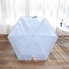 Яркий маленький зонт с защитой от УФ, 6 спиц, Япония, с принтом- Медведь (светло-голубой)
