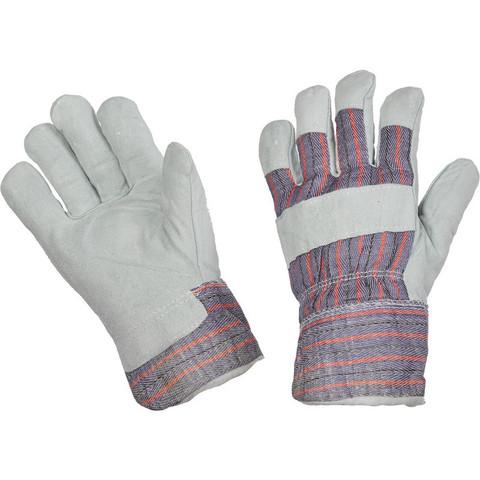 Перчатки рабочие трикотажные спилковые комбинированные утепленные