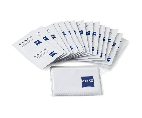 Салфетки влажные и ткань из микрофибры Carl Zeiss - фото 1 - комплект поставки