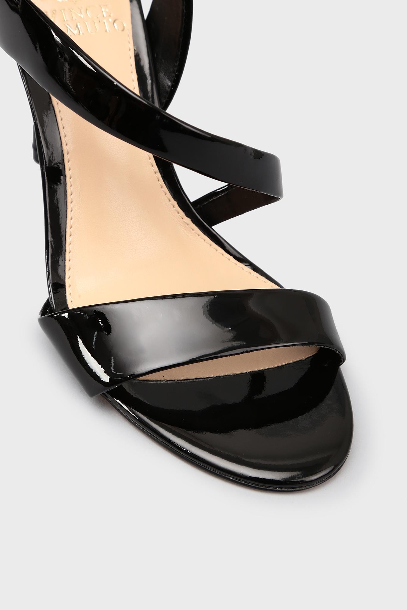 Женские черные кожаные босоножки Vince Camuto
