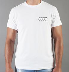 Футболка с принтом Ауди (Audi) белая 004