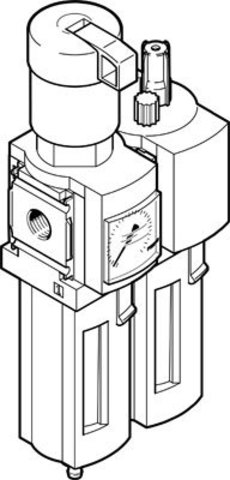 Блок подготовки воздуха, комбинация MSB4-1/4-FRC13:J120M1
