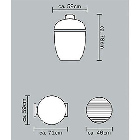 Керамический гриль Monolith Classic Pro-Series 2.0 Black (без столиков и ножек)