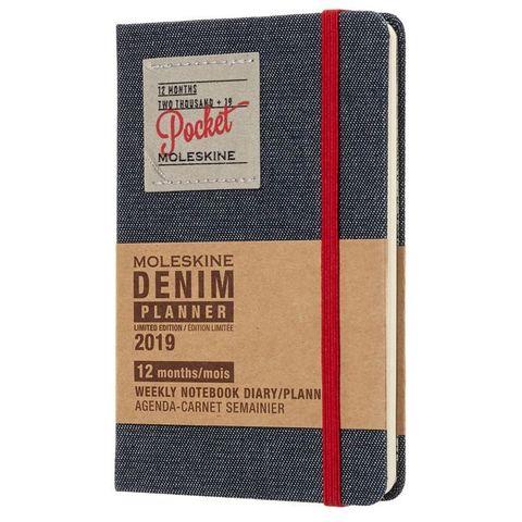 Еженедельник Moleskine Limited Edition DENIM WKLY Pocket 90x140мм 144стр. черный