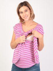 Евромама. Блуза для беременных и кормящих на запах вискоза, сиреневый вид 6