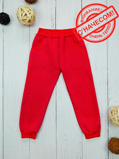 Брюки с карманами, 2401н, красные