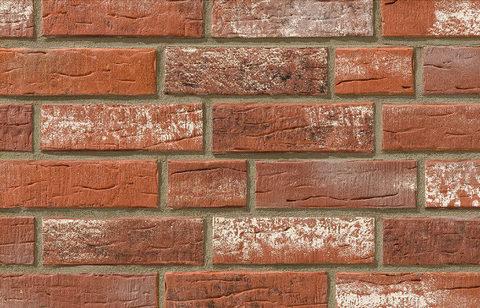 Stroeher - 374 shabbyrot, Steinlinge, состаренная поверхность, ручная формовка, 240x71x14 - Клинкерная плитка для фасада и внутренней отделки