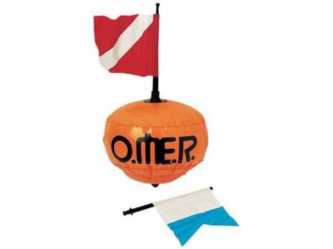 Буй Omer Пвх круглый с 2 флагами