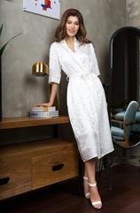 Шелковый белый халат 15157 Mia-Mia