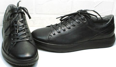 Мужские осенние кеды кроссовки для долгой ходьбы Ikoc 1725-1 Black.