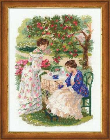 Набор для вышивания крестом «Русская усадьба. Чай под яблоней» (1140)