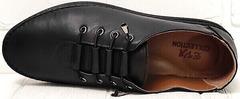 Стиль смарт кэжуал модные женские мокасины кеды из натуральной кожи EVA collection 151 Black.