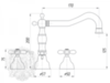 Смеситель для раковины на 3 отв. Migliore Princeton Plus ML.PRP-8012 схема