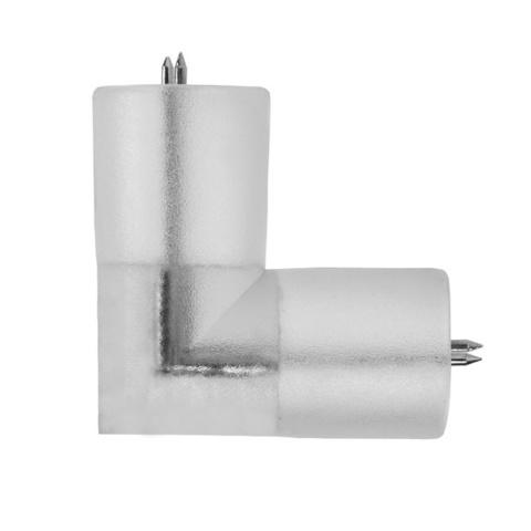 Угловой соединитель для шланга дюралайт светодиодного шнура LED ленты  круглой на пвх проводе силиконовой