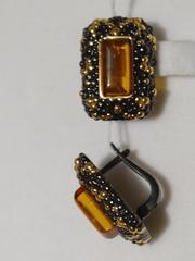 Дельво-черный(подвеска  из серебра)