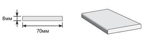 Наличник Прямоугольный 2150*70*8