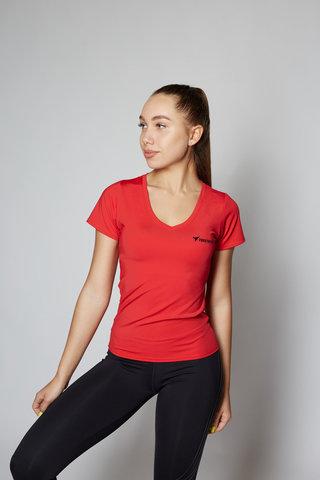 Футболка Basic V-neck Red