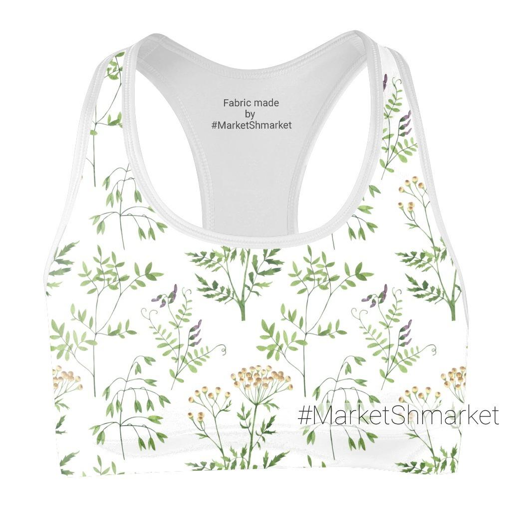 Акварельные полевые цветы и листья. Пижма, горошек, овес