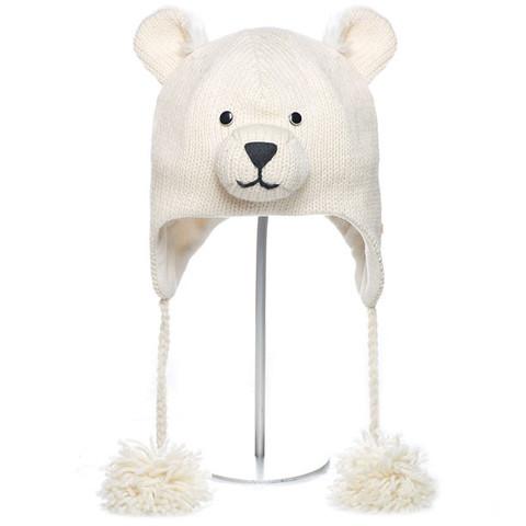 Картинка шапка с ушами Knitwits Pee Wee the Polar Bear  - 1