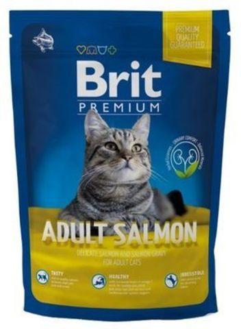 3865 Brit Premium Cat Adult Salmon д/взрослых кошек с Лососем 300гр*10