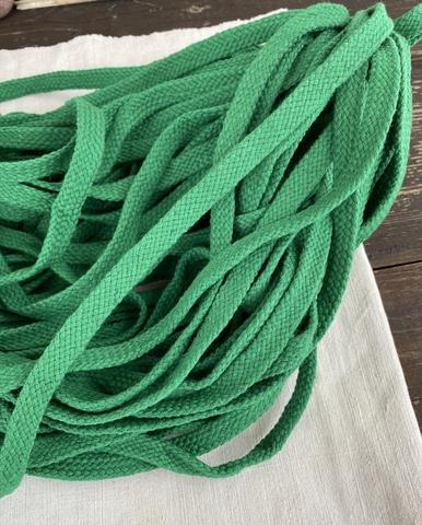 Шнур плоский 10мм, зеленый