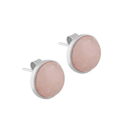 Пусеты Pearl Quartz Rose A1992.9 R/S