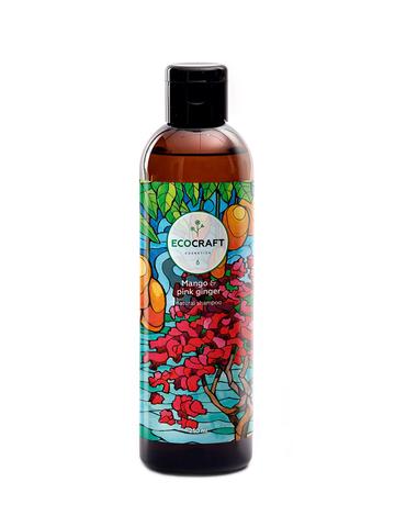 ECOCRAFT Шампунь против выпадения и для роста волос Mango and pink ginger Манго и розовый имбирь (250 мл)