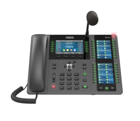 Fanvil x210i - Dispatching SIP Phone (POE) - диспетчерский IP телефон, 20 SIP линий, (1GbE) Gigabit Ethernet, тройной цветной LCD, 42 DSS/BLF, Bluetooth, USB, Wi-Fi, внешний микрофон