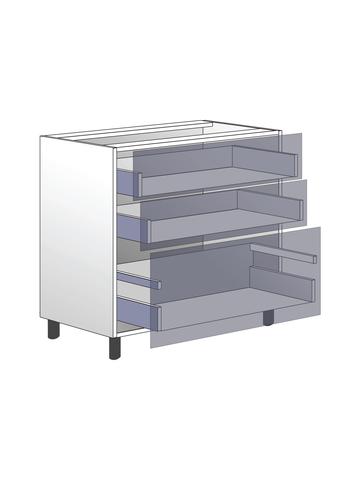 Напольный шкаф c 3 ящиками, 720Х800 мм / PushToOpen
