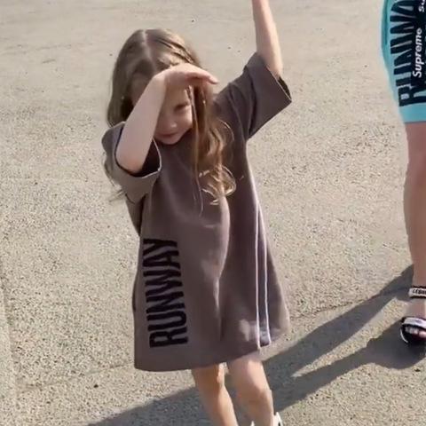 Платье детское RUNWAY, капучино